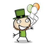 Weinig Mens viert St. Paddys Dag Stock Foto's
