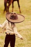 Weinig Mexicaanse Cowboy Stock Afbeelding