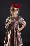Weinig mooi meisje met masker Royalty-vrije Stock Foto