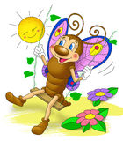 Weinig mooie vlinderschommeling, beeldverhaal Stock Foto