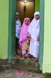 Weinig Moslimmeisjes Royalty-vrije Stock Foto