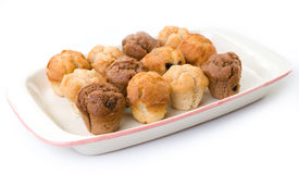 Weinig muffin koekt op een plaat Stock Afbeeldingen