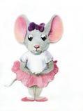 Weinig muis-ballerina stock afbeelding