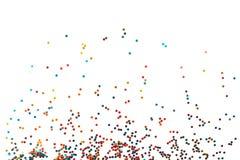 Weinig multicolored confetti stock illustratie