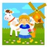 Weinig Nederlands meisje vector illustratie