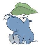 Weinig nijlpaard beeldverhaal Royalty-vrije Stock Foto