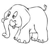Weinig olifant stock illustratie