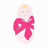 Weinig pasgeboren babymeisje Stock Afbeelding