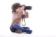 Weinig photografer Royalty-vrije Stock Foto's