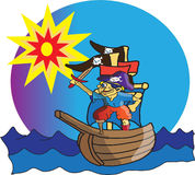 Weinig piraat Royalty-vrije Stock Fotografie