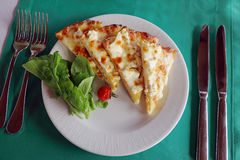 Weinig plakken van pizza Stock Foto's