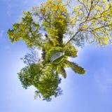 Weinig planeet Sferische 360 van de naadloze panoramagraden mening in S Royalty-vrije Stock Fotografie