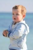 Weinig portret 03 van het jongensstrand royalty-vrije stock afbeelding