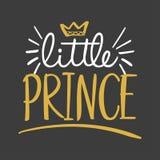 Weinig Prins - Vectorillustratietekst voor kleren royalty-vrije illustratie