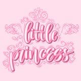 Weinig Prinses Hand getrokken creatieve moderne kalligrafie stock illustratie