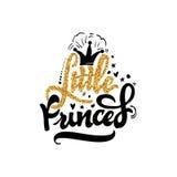 Weinig Prinses Kalligrafie gouden verf, gelijkend op de folie Unieke Douanekarakters stock illustratie
