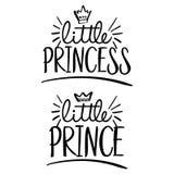 Weinig Prinses, weinig Prins stock illustratie