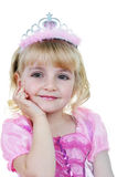 Weinig prinses in roze Stock Foto