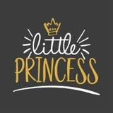 Weinig Prinses - Vectorillustratietekst voor kleren vector illustratie