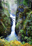 Weinig Qualicum valt Provinciaal Park royalty-vrije stock foto