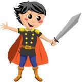 Weinig Ridder Fighting royalty-vrije illustratie