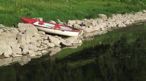 Weinig rijboot Stock Foto