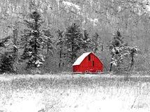 Weinig rode schuur Stock Afbeelding