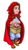 Weinig Rood Berijdend Hood Fairy Tale Character Royalty-vrije Stock Foto