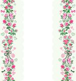 Weinig Roze Rose Ornament royalty-vrije stock afbeelding