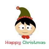Weinig Santa Claus op Chistmas-Dag Royalty-vrije Stock Foto