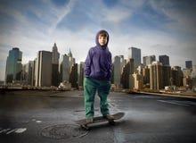 Weinig schaatser royalty-vrije stock foto's
