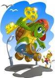 Weinig schildpad - zoonstortilla vector illustratie