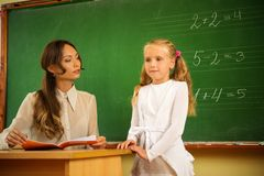 Weinig schoolmeisje Royalty-vrije Stock Foto