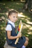 Weinig schoolmeisje Terug naar School Stock Afbeelding