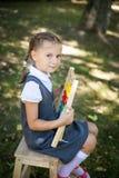 Weinig schoolmeisje Terug naar School Royalty-vrije Stock Afbeeldingen