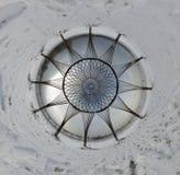 Weinig sferisch panorama van de planeetbol op de winterlandschap Royalty-vrije Stock Foto