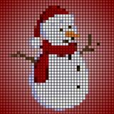 Weinig sneeuwman Royalty-vrije Stock Afbeeldingen