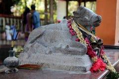 Weinig standbeeld van Indische heilige koe Stock Foto's