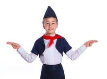 Weinig stewardess Stock Afbeelding