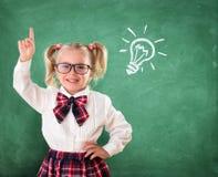 Weinig Student With Idea stock afbeeldingen
