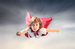 Weinig superhero Stock Afbeelding