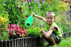 Weinig tuinman royalty-vrije stock fotografie