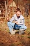 Weinig tuinman Stock Foto's