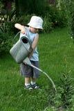 Weinig tuinmanjongen Stock Fotografie