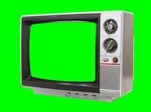 Weinig Uitstekende Televisie met het Chroma Groene Scherm en Achtergrond stock afbeeldingen