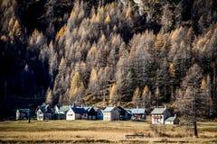 Weinig Vallei van Ossola van het bergdorp Stock Foto's
