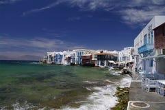 Weinig Venetië op Mykonos Stock Foto