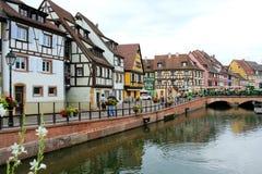 Weinig Venetië van colmar in Frankrijk royalty-vrije stock fotografie