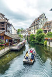 Weinig Venetië in Colmar, Frankrijk Stock Foto's