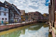 Weinig Venetië in Colmar, Frankrijk Royalty-vrije Stock Afbeelding
